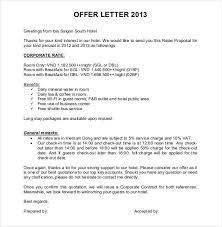 Hotel fer Letter Format