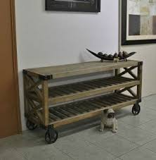 wine rack console table. Industrial Recycled Timber Hall Console Display Table Wine Rack Studs E