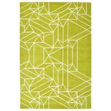 origami lime green 2 ft x 3 ft area rug