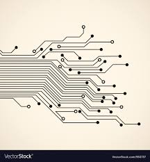 Abstract Circuit Background Royalty Free Vector Image
