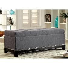 linen storage ottoman. Contemporary Linen Furniture Of America Rachelson Romantic Tufted Linen Storage Ottoman In I