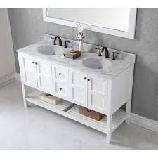Just Cabinets Aberdeen Virtu Usa Winterfell 60 In W X 22 In D Vanity In White With