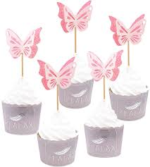 Zealax Butterfly Cake And Cupcake Topper Picks Baby Shower