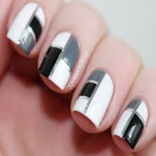 Black and White Nail Designs Tumblr
