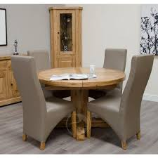 coniston rustic solid oak round extending dining table oak furniture uk