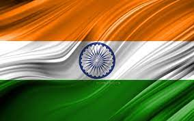 4k, Indian Flag, Asian Countries, 3d ...