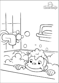 Curious George Coloring Pages Have A Bath Get Coloring Page