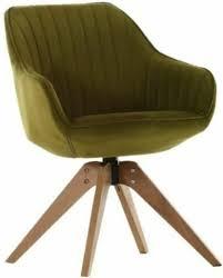 Stuhl Chill 60696312 22 Grün Eiche Massiv Drehbar Esszimmerstuhl Retro Sessel