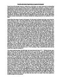 describe and evaluate piaget s theory of cognitive development a page 1 zoom in