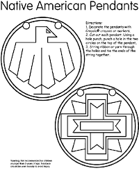 Small Picture Native American Pendants Coloring Page crayolacom