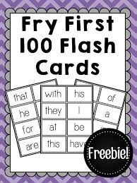 Flashcards Template Word Fry First 100 Sight Word Flashcards Free Freebies Amandas