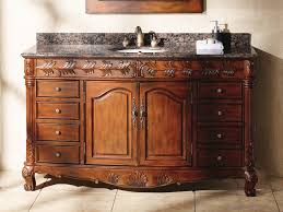 single sink traditional bathroom vanities. Decoration Ideas. Simple And Neat Decorating Ideas Using Black Granite Countertops Rectangular Brown Wooden Single Sink Traditional Bathroom Vanities T