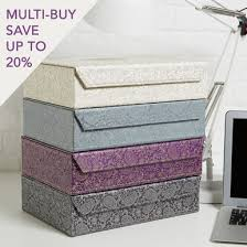 Decorative File Storage Boxes Decorative file box with magnetic closure and stylish Pewter 64