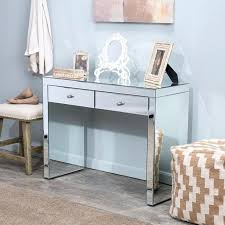 smoked mirrored furniture. Mirrored Glass Furniture Vanity Table Writing Desk Two Drawers Hallway Bed Room Next . Smoked E