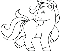 Unicorn Coloring Page Pages For Kids Free Printable Rainbow Dash Cute