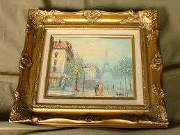 ine burnett oil on canvas signed depicting a parisian scene