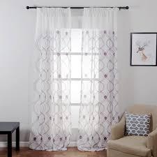 Topfinel Welle Muster Weiß Sheer Vorhänge Fenster Tüll Vorhänge Für