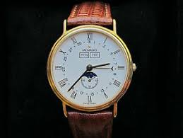 vintage moon phase watches movado men s moon phase triple calendar swiss watch