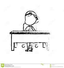 student sitting at desk drawing.  Desk Figure Boy Student Sitting In The Wood Desk With Student Sitting At Desk Drawing