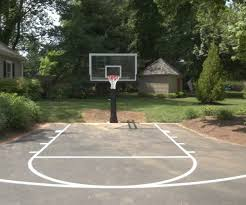 custom outdoor half basketball court2 perth amboy nj