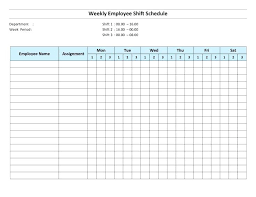 Free Work Schedule Template Download By Printable Employee Work