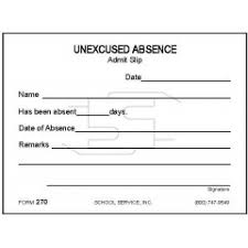 Absence Form 270 Excused Absence Padded Forms