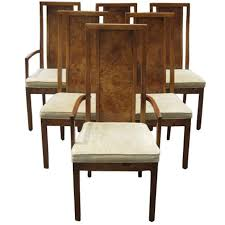 thomasville living room chairs. High Back Wood Dining Room Chairs Thomasville Vintage Burled Highback Set Of Six Living A