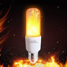 Light Bulbs That Look Like Fire Led Flame Effect Light Bulbs Nashone E26 Fire Flickering Light Bulb 99pcs 2835 Led Beads Vintage Flaming Bulb Simulated Decorative Light Atmosphere
