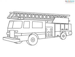 Small Picture Fire Engine Coloring Pages