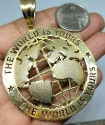 globe necklace planet earth world map
