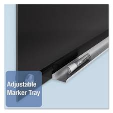 quartet infinity black glass magnetic marker board 72 x 48
