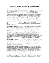 Free Iowa Standard Residential Lease Agreement Template - Word | Pdf ...