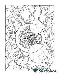 Space Coloring Page Adult Coloring Page Printable Adult Etsy