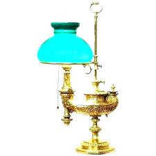 brass desk lamp green glass shade bankers banker lamps parts vintage des
