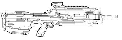 Small Picture Color Me This Halo 4 Weapons series Battle Rifle HaloFanForLife