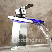 bathroom sink faucets 47 square waterfall led
