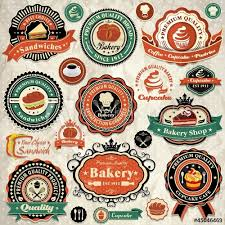Vintage Food Labels Collection Of Vintage Food Labels Badges And Icons Buy This Stock