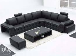mark as favorite show only image l shape royal black sofa set with center table