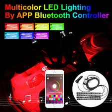 Addmotor Led Lights App Addmotor 4pcs Rgb Led Light Strips For Car Auto Interior