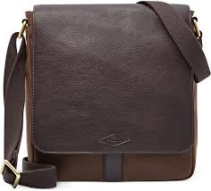 leather messenger bags fossil trevor waxed twill small messenger bag