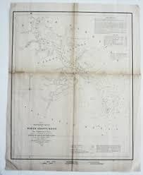 Details About Preliminary Sketch South Carolina Us Coast Survey Map North Edisto River 1851