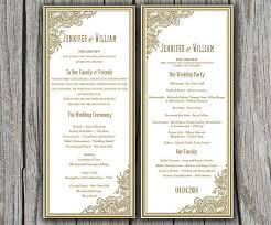 45 Wedding Program Word Template Wedding Program Template Word