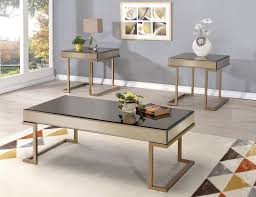 Mirrored coffee table sets Modern Wall Leven Champagne Fini Simple Modern Rectangle Mirrored Coffee Table Senja Furniture Mirrored Coffee Table Set Senja Furniture