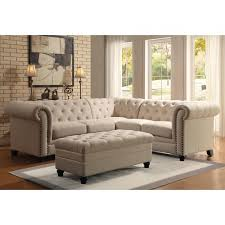 buttontufted sectional sofa