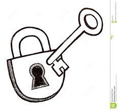 door lock and key black and white. Lock And Key Door Black White E