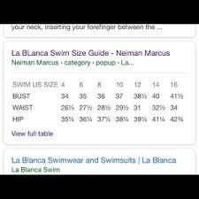 La Blanca Tankini Bikini Halter Stripe Swimsuit 8 Nwt