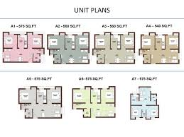 apartment unit floor plans   Unit Plans - (540, 560 & 575 sq.