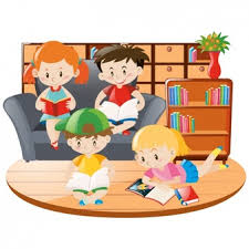 Image result for animated images of kids reading