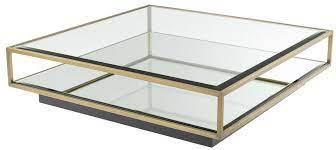 casa padrino luxury coffee table brass