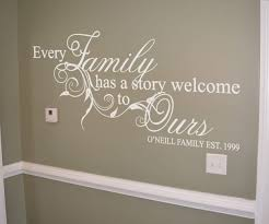 family story personalised wall art decal  wall art decal